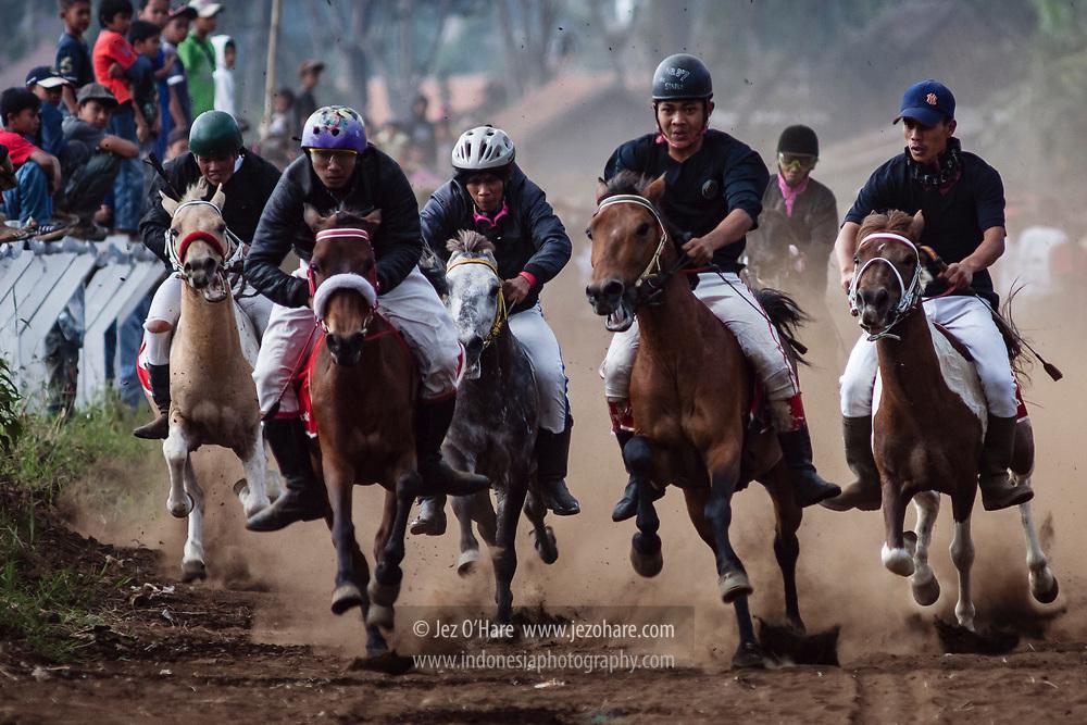 Horse racing at Lembang, Bandung, Jawa Barat, Indonesia