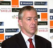 Kassam Stadium, OXFORD, Parker Pen Shield Press Conference.<br /> 23/04/2002 Kassam Stadium<br /> Gloucester Manager, Nigel Melville