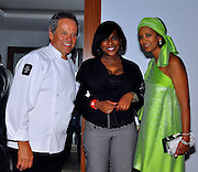 **EXCLUSIVE**.Wolfgang Puck, Sabrina Boasman and Gelila Assefa..Pras Michel of The Fugees Honoring The First Ladies of Africa at a Cocktail Reception in partnership US Doctors For AFRICA..WP Wolfgang Puck Restaurant..Pacific Design Center..West Hollywood, CA, USA..Monday, April 20, 2009..Photo By Jennifer Smulin/Celebrityvibe.com.To license this image please call (212) 410 5354; or Email: celebrityvibe@gmail.com ; .website: www.celebrityvibe.com.