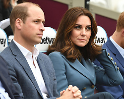 The Duke and Duchess of Cambridge and Prince Harry attend the graduation ceremony for more than 150 Coach Core apprentices at The London Stadium, London, UK, on the 18th October 2017. 18 Oct 2017 Pictured: Prince William, Duke of Cambridge, Catherine, Duchess of Cambridge, Kate Middleton. Photo credit: James Whatling / MEGA TheMegaAgency.com +1 888 505 6342