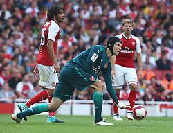 July 30, 2017 - London, England, United Kingdom - Arsenal's Petr Cech.during Emirates Cup match between Arsenal  against Savilla FC   at Emirates Stadium on 30 July 2017  (Credit Image: © Kieran Galvin/NurPhoto via ZUMA Press)