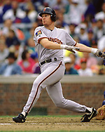CHICAGO - 1994:  Matt Williams of the San Francisco Giants bats during an MLB game versus the Chicago Cubs at Wrigley Field in Chicago, Illinois during the 1994 season. (Photo by Ron Vesely) Subject:   Matt Williams