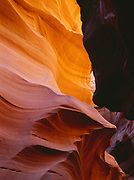 Sculptured sandstone in a slickrock slot canyon, Colorado Plateau, northern Arizona.  SS#1