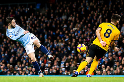 Bernardo Silva of Manchester City shoots at goal - Mandatory by-line: Robbie Stephenson/JMP - 14/01/2019 - FOOTBALL - Etihad Stadium - Manchester, England - Manchester City v Wolverhampton Wanderers - Premier League