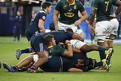 Furious maul during a rugby friendly Test match, France vs South Africa in Stade de France, St-Denis, France, on November 18, 2017. South Africa won 18-17. Photo by Henri Szwarc/ABACAPRESS.COM