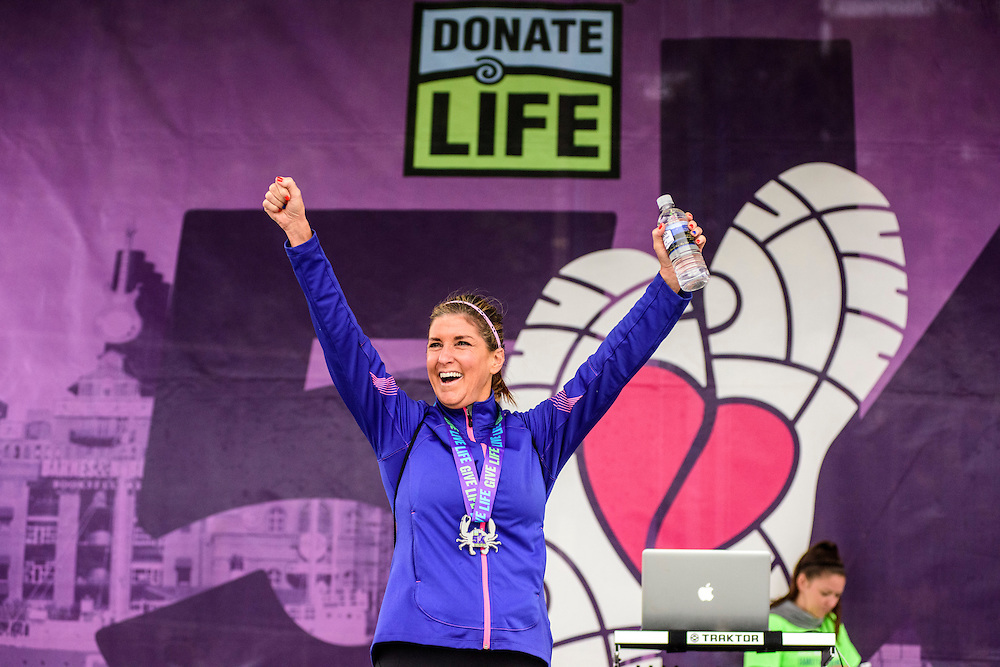 Baltimore, Maryland - October 01, 2016: <br /> The 2016 Living Legacy Foundation's Donate Life Family Fun Run at M&T Bank Stadium in Baltimore Saturday October 1, 2016. <br /> CREDIT: Matt Roth