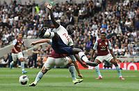 Football - 2019 / 2020 Premier League - Tottenham Hotspur vs. Aston Villa<br /> <br /> Aston Villa's John McGinn battles for possession with Tottenham Hotspur's Davinson Sanchez leading to an unsuccessful penalty review for Aston Villa, at The Tottenham Hotspur Stadium.<br /> <br /> COLORSPORT/ASHLEY WESTERN