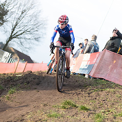 11-01-2020: Wielrennen: NK Veldrijden: Rucphen <br />Ties Veldkamp
