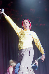 Sharleen Spiteri of Texas on the main stage at T in the Park, 8th July 2001..Pic ©2010 Michael Schofield. All Rights Reserved.