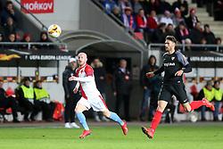 14.03.2019, Eden Arena, Prag, CZE, UEFA EL, SK Slavia Praha vs Sevilla FC, Achtelfinale, Rückspiel, im Bild MIROSLAV STOCH (SLAVIA) SERGI GOMEZ (SEVILLA) // during the UEFA Europa League round of 16, 2nd leg match between SK Slavia Praha and Sevilla FC at the Eden Arena in Prag, Czech Republic on 2019/03/14. EXPA Pictures © 2019, PhotoCredit: EXPA/ Newspix/ Michal Chwieduk<br /> <br /> *****ATTENTION - for AUT, SLO, CRO, SRB, BIH, MAZ, TUR, SUI, SWE, ITA only*****