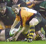 Reading, England, Madejski Stadium, Berkshire, Pool game of the <br /> European Heineken Cup Rugby <br /> London Irish v Newport<br /> Dale Burn .    [Mandatory Credit:Peter SPURRIER/Intersport Images] .    [Mandatory Credit:Peter SPURRIER/Intersport Images] , 15th Dcecember 2002