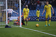 Millwall striker Aiden O'Brien (22) celebrating scoring first goal 0-1 during the EFL Sky Bet League 1 match between Millwall and Bristol Rovers at The Den, London, England on 12 November 2016. Photo by Matthew Redman.
