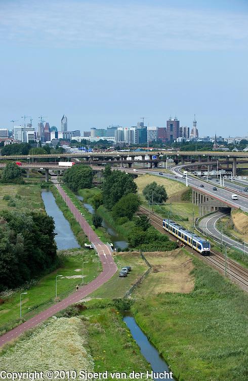 Uitzicht op Den Haag, Zuid-Holland - Skyline of the Hague, Netherlands