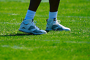 January 29 2016: Team Rice Charles Woodson's cleats during the Pro Bowl practice at Turtle Bay Resort on Oahu, HI. (Photo by Aric Becker/Icon Sportswire)