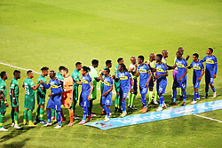 23102018 (Durban) Cape Town City players with Amazulu Players shaking hands during the first round of the Telkom Knockout concludes on Tuesday night when Amazulu host MTN8 Cup winners Cape Town City at the King Zwelithini stadium.<br /> Picture: Motshwari Mofokeng/African News Agency (ANA)