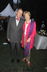 NEIL & CHRISTINE HAMILTON at the Goring Hotel Summer party, Goring Hotel, 15 Beeston Place, London on 17th September 2008.