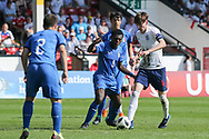 James Garner of England (4) during the UEFA European Under 17 Championship 2018 match between England and Italy at the Banks's Stadium, Walsall, England on 7 May 2018. Picture by Mick Haynes.