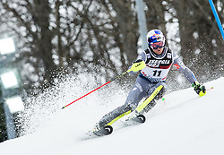 """Alexis Pinturault (FRA) competes during 1st Run of FIS Alpine Ski World Cup 2017/18 Men's Slalom race named """"Snow Queen Trophy 2018"""", on January 4, 2018 in Course Crveni Spust at Sljeme hill, Zagreb, Croatia. Photo by Vid Ponikvar / Sportida"""