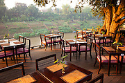 Nam Khan River-side restaurant in  Luang Prabang, Laos.
