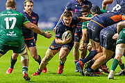 Mike Willemse (#2) of Edinburgh Rugby charges for the line during the Guinness Pro 14 2019_20 match between Edinburgh Rugby and Connacht Rugby at BT Murrayfield Stadium, Edinburgh, Scotland on 21 February 2020.