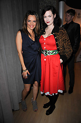 Left to right, Maria Hatzistefanis and JASMINE GUINNESS at The Rodial Beautiful Awards in aid of the charity Kids Company held in the Billiard Room at The Sanderson, 50 Berners Street, London on 3rd February 2010.