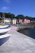Popular holiday and sailing village of Glandore, County Cork, Ireland