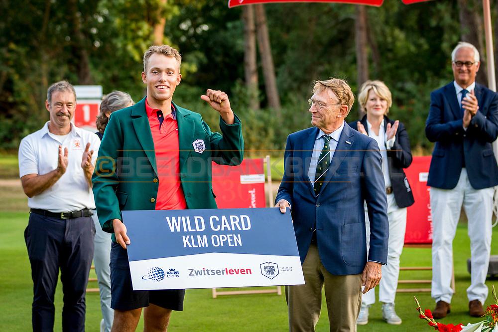 20-07-2019 Pictures of the final day of the Zwitserleven Dutch Junior Open at the Toxandria Golf Club in The Netherlands.<br /> Koen Kouwenaar, winner DJO 2019