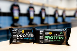 GetBuzzing Protein in the Exeter Chiefs changing room prior to kick off - Mandatory by-line: Ryan Hiscott/JMP - 19/10/2019 - RUGBY - Sandy Park - Exeter, England - Exeter Chiefs v Harlequins - Gallagher Premiership Rugby