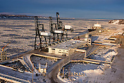 Alaska. Anchorage. The Sea Land and Totem Ocean Express docks.  Container ships are loaded with freight.