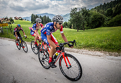 Musa Mikayilzade (AZE) of Synergy Baku Cycling Project, Gasper Katrasnik (SLO) of KK Adria Mobil, Gregor Gazvoda (SLO) of KK Adria Mobil during Stage 3 of 24th Tour of Slovenia 2017 / Tour de Slovenie from Celje to Rogla (167,7 km) cycling race on June 16, 2017 in Slovenia. Photo by Vid Ponikvar / Sportida