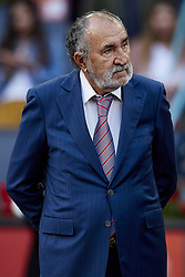 May 13, 2018 - Madrid, Madrid, Spain - Owner of the tournament Ion Tiriac of Romania attends day nine of the Mutua Madrid Open tennis tournament at the Caja Magica on May 13, 2018 in Madrid, Spain  (Credit Image: © David Aliaga/NurPhoto via ZUMA Press)