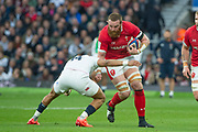 Twickenham, England, 7th March 2020, Jake BALL, with the ball, covered by Antony WATSON,  during the  Guinness Six Nations, International Rugby, England vs Wales, RFU Stadium, United Kingdom, [Mandatory Credit; Peter SPURRIER/Intersport Images]