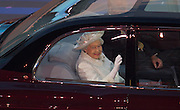 23.07.2014. Glasgow, Scotland. Glasgow Commonwealth Games. The opening ceremony. HRH The Queen makes her entrance to Celtic Park.