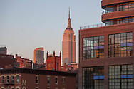 New York Chelsea area at sunset