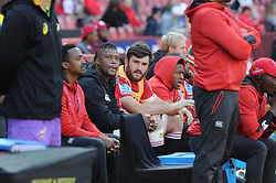 14-07-18 Johannesburg. Emirates Airlines Park. Emirates Lions vs Vodacom Blue Bulls.<br /> 1st half. The Lions bench watching the game from the sidelines.<br /> Picture: Karen Sandison/African News Agency (ANA)