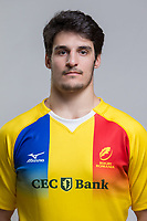 CLUJ-NAPOCA, ROMANIA, FEBRUARY 27: Romania's national rugby player Adrian Motoc pose for a headshot, on February 27, 2018 in Cluj-Napoca, Romania. (Photo by Mircea Rosca/Getty Images)