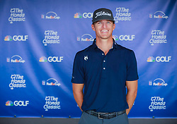 February 28, 2019 - Florida, U.S. - Morgan Hoffmann at The Honda Classic Thursday, February 28, 2019 at the PGA National Resort & Spa in Palm Beach Gardens. (Credit Image: © Bruce R. Bennett/The Palm Beach Post via ZUMA Wire)