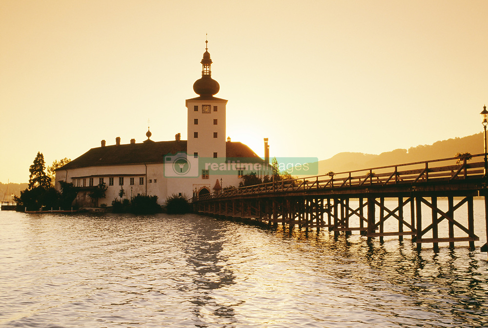 July 21, 2019 - Schloss Ort (Castle Ort) At Sunrise, Gmunden, Austria (Credit Image: © Bilderbuch/Design Pics via ZUMA Wire)