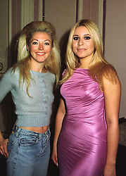 Left to right, MISS TAMARA BECKWITH and MISS BEVERLEY BLOOM at a fashion show in London on 20th March 1998.MGG 6