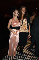 Left to right, MISS ELLIE SHEPHERD and SOPHIA ROGGE at The Christmas Cracker - an evening i aid of the Starlight Children's Charity held at Frankies, Knightsbridge on 13th December 2006.<br />