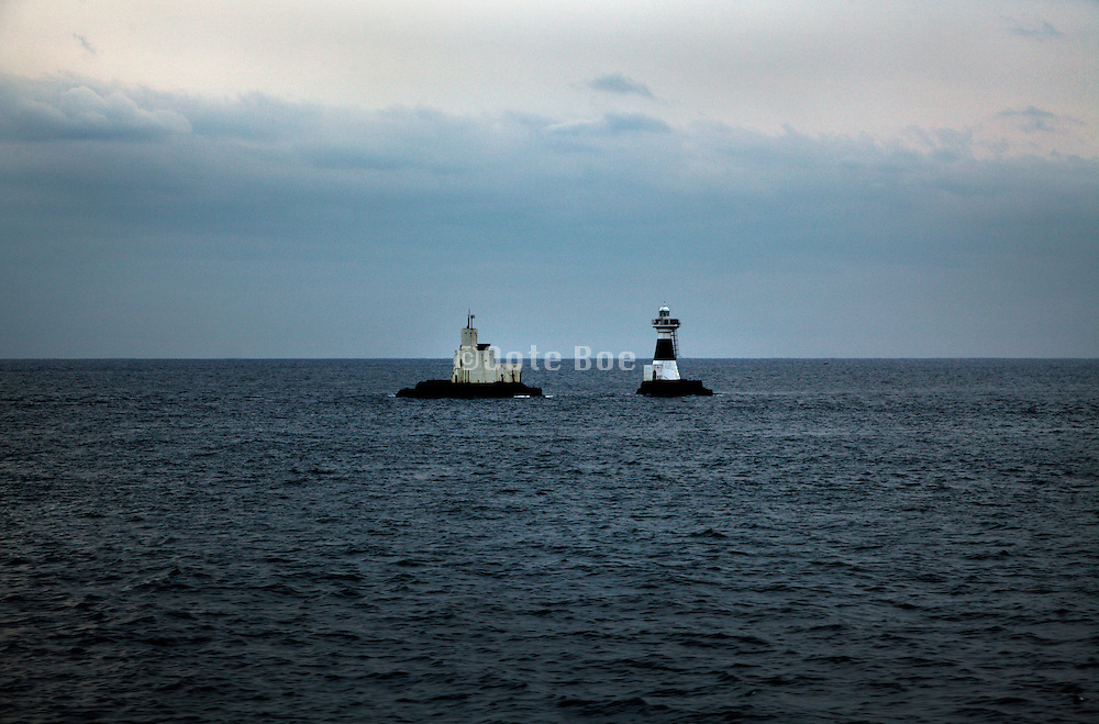 lighthouse in Tokyo bay near the sea opening