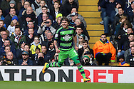 Alberto Paloschi of Swansea City celebrates after scoring his sides 1st goal to make it 0-1.  Barclays Premier league match, Tottenham Hotspur v Swansea city at White Hart Lane in London on Sunday 28th February 2016.<br /> pic by John Patrick Fletcher, Andrew Orchard sports photography.