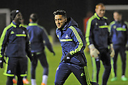Neil Taylor during Swansea city FC team training in Landore, Swansea, South Wales on Wed 19th Feb 2014. the team are training ahead of tomorrow's UEFA Europa league match against Napoli.<br /> pic by Phil Rees, Andrew Orchard sports photography.