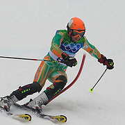 Winter Olympics, Vancouver, 2010.Shane O'Connor, Ireland, in action during the Alpine Skiing, Men's Slalom at Whistler Creekside, Whistler, during the Vancouver Winter Olympics. 27th February 2010. Photo Tim Clayton