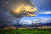 A passing storm over Montana's Paradise Valley.