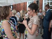 ALEXANDRA SHULMAN; VICTORIA BECKHAM;, Alexandra Shulman, Editor of Vogue & Phil Popham, Managing Director of Land Rover<br /> host the 40th Anniversary of Range Rover. The Orangery at Kensington Palace. London. 1 July 2010. -DO NOT ARCHIVE-© Copyright Photograph by Dafydd Jones. 248 Clapham Rd. London SW9 0PZ. Tel 0207 820 0771. www.dafjones.com.