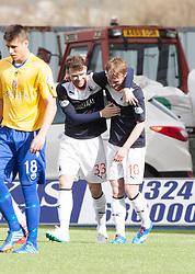 Falkirk's Craig Sibbald cele scoring their fourth goal.<br /> Falkirk 5 v 0 Cowdenbeath, Scottish Championship game played today at The Falkirk Stadium.<br /> © Michael Schofield.