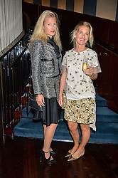 Left to right, PHILIPPA HOLLAND and COUNTESS ALEXANDRA TOLSTOY at a dinner to celebrate the start of The Season held at Rivea, Bulgari Hotel, 171 Kightsbridge, London on 18th May 2016.
