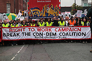 """Right to Work"" march on the Tory Party Conference"