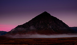 Buachaille Etive Mòr just before dawn on a cold autumn morning.  Rannoch Moor, Highlands of Scotland.<br /> <br /> (c) Andrew Wilson   Edinburgh Elite media